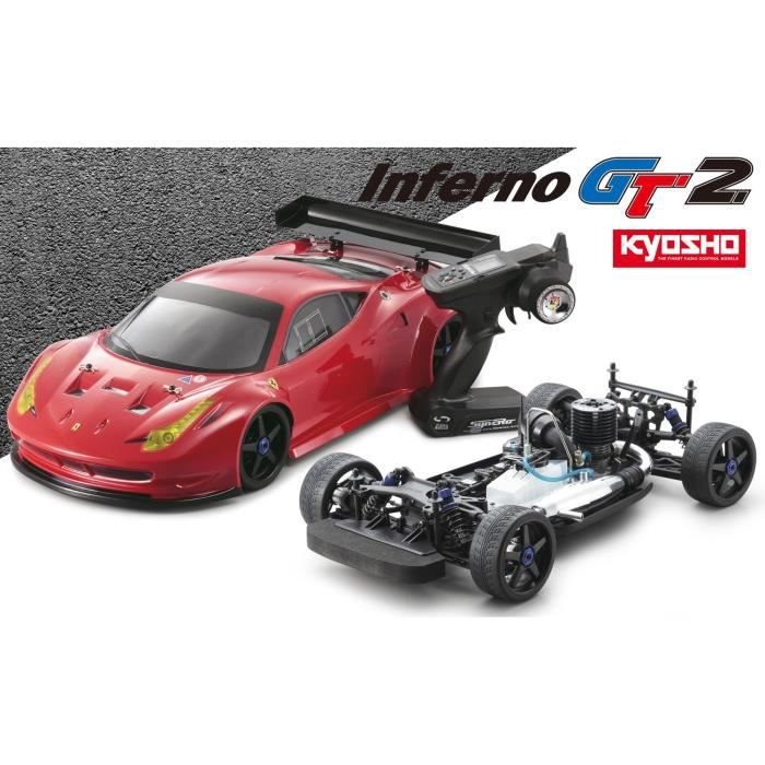 kyosho voiture thermique inferno gt2 ferrari 458 1 8 me achat vente voiture construire. Black Bedroom Furniture Sets. Home Design Ideas