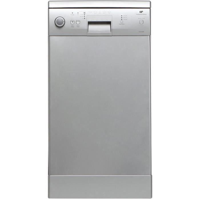 Continental Edison Celv1048s8 Lave Vaisselle Posable 10 Couverts 48 Db A Larg 45 Cm Inox