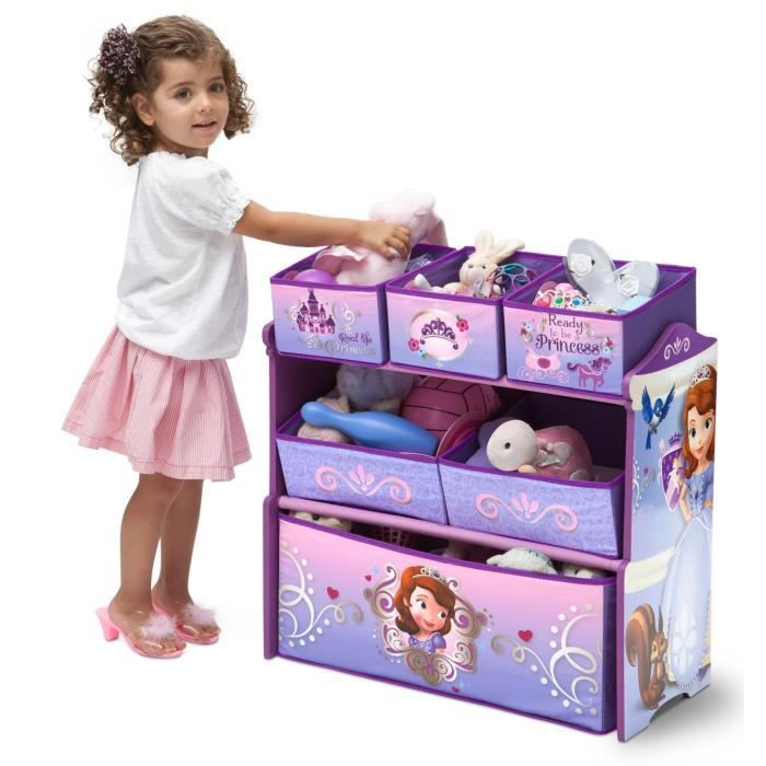 delta children sofia meuble de rangement enfant jouets 6 bacs achat vente commode de chambre. Black Bedroom Furniture Sets. Home Design Ideas
