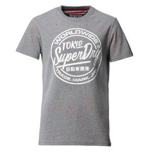 T-SHIRT SUPERDRY T-Shirt Worldwide Gris Homme