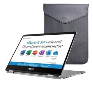 Vente PC Portable ASUS VivoBook Flip convertible tactile TP401MA-BZ078TS - 14'' HD - Pentium N5000 - RAM 4Go - Stockage 64Go- W10 Home S+ Office+ étui pas cher