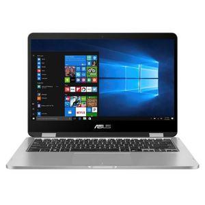 Un achat top PC Portable  ASUS VivoBook Flip convertible tactile TP401MA-BZ078TS - 14'' HD - Pentium N5000 - RAM 4Go - Stockage 64Go- W10 Home S+ Office+ étui pas cher