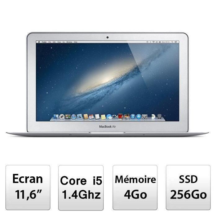 "ORDINATEUR PORTABLE Apple Ordinateur Portable MacBook Air 11"" MD712F/B"