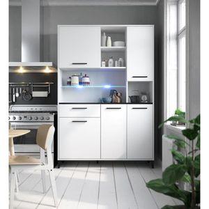 BUFFET DE CUISINE ECO Buffet de cuisine avec LED L 120 cm - Blanc et