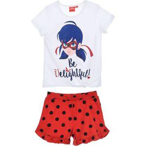 PYJAMA LADY BUG Pyjama short et T-shirt manches courtes F