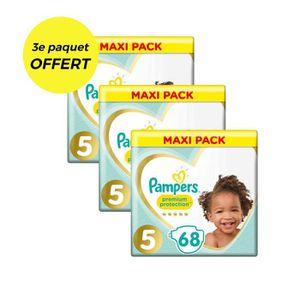 COUCHE PAMPERS Premium Protection Taille 5 - 207 couches