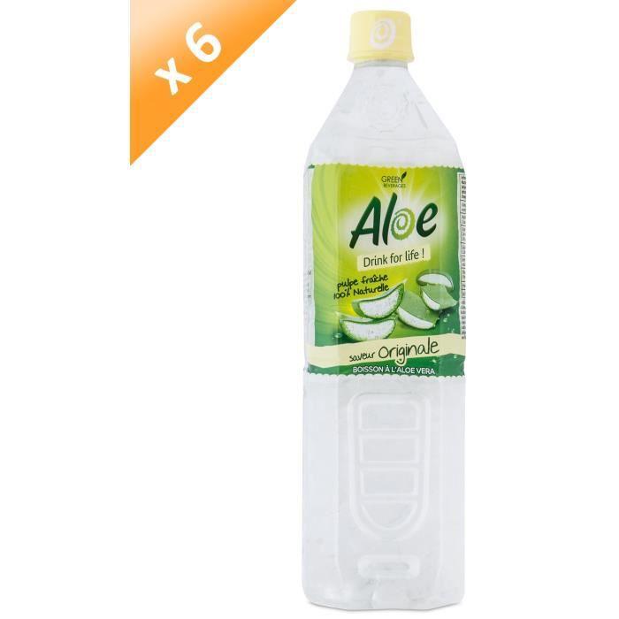 Boisson lactée ALOE DRINK FOR LIFE Lot de 6 Nature Pet 1,2 L