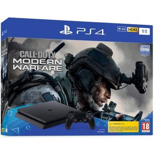 CONSOLE PS4 Console PS4 Slim 1To Noire/Jet Black + Call of Dut