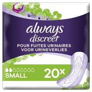 FUITES URINAIRES ALWAYS Discreet Small Serviettes hygiéniques pour