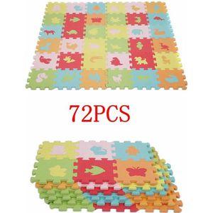 TAPIS DE JEU kit de 2 (36pcs+36PCS) 16*16cm Tapis Mousse Puzzle