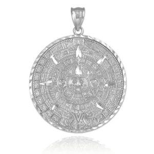 collier argent aztèque