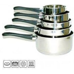 CASSEROLE  CASSEROLE INOX X 5 LOT INDUCTION PP CODE 12081750