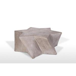 TABLE BASSE table basse en béton au design étoile - meuble ori