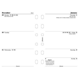 AGENDA - ORGANISEUR Filofax Recharge calendrier annuel par semaine Tai