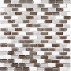 Mosaique pierre et verre salle de bain