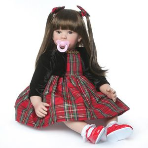 POUPÉE NPK 60 cm Silicone Reborn Baby Poupées Baby Doll A