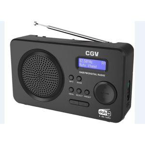 RADIO CD CASSETTE CGV DR5+ Radio numérique portable FM & DAB+ - Ultr