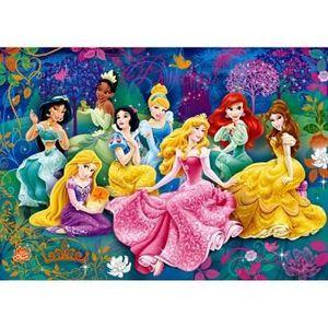 PUZZLE Puzzle 104 pièces Effet 3D : Princesses Disney