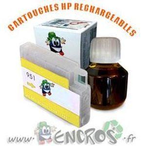 CARTOUCHE IMPRIMANTE RECHARGEABLE- HP 951 Yellow- Kit Cartouche Recharg