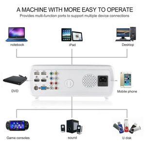 Vidéoprojecteur Projecteur Facile à utiliser Multimédia 2600 LM 10