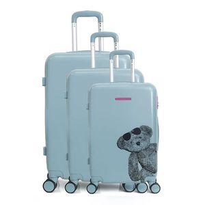 SET DE VALISES Lot de 3 valises rigides Ours Lunettes 55, 66 et 7