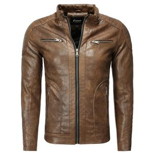 VESTE Veste fashion cuir homme Veste 1002 marron