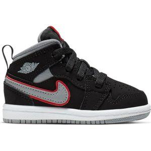 CHAUSSURES BASKET-BALL Chaussure de Basket Air Jordan 1 Mid (TD) Noir pou