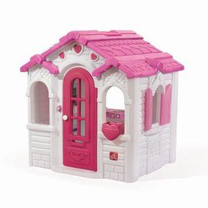 MAISONNETTE EXTÉRIEURE STEP2 Maisonnette Enfant Sweetheart - Rose Blanc