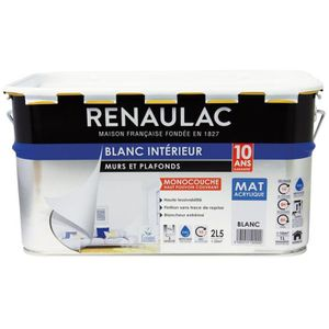 PEINTURE - VERNIS RENAULAC Peinture murs et plafonds monocouche acry
