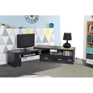 meuble tv angle achat vente meuble tv angle pas cher cdiscount. Black Bedroom Furniture Sets. Home Design Ideas