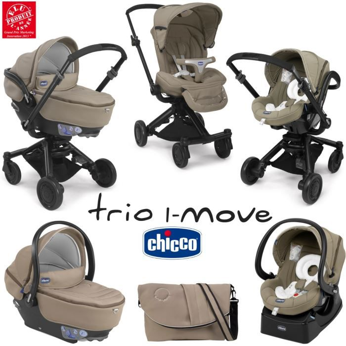 POUSSETTE  CHICCO Trio I-Move Natural