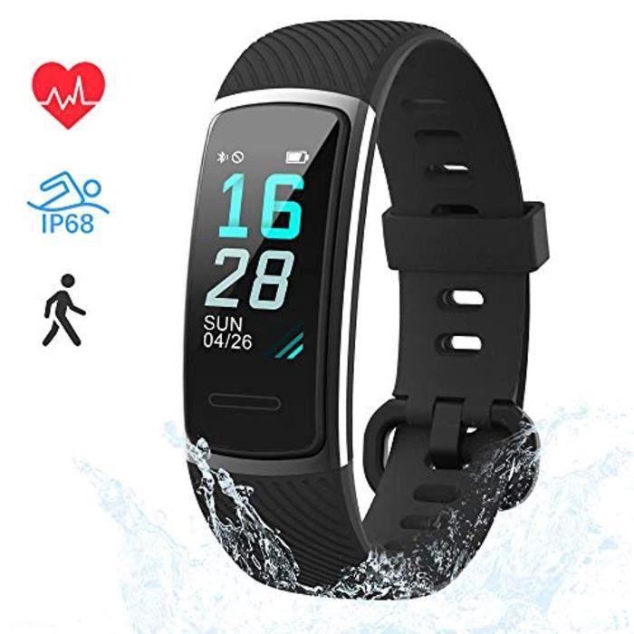 LIFEBEE Montre Connectée Bracelet Connecté Cardiofréquencemètre Fitness Tracker d'Activité IP68 Etanche Sport Running Podomètre Calo