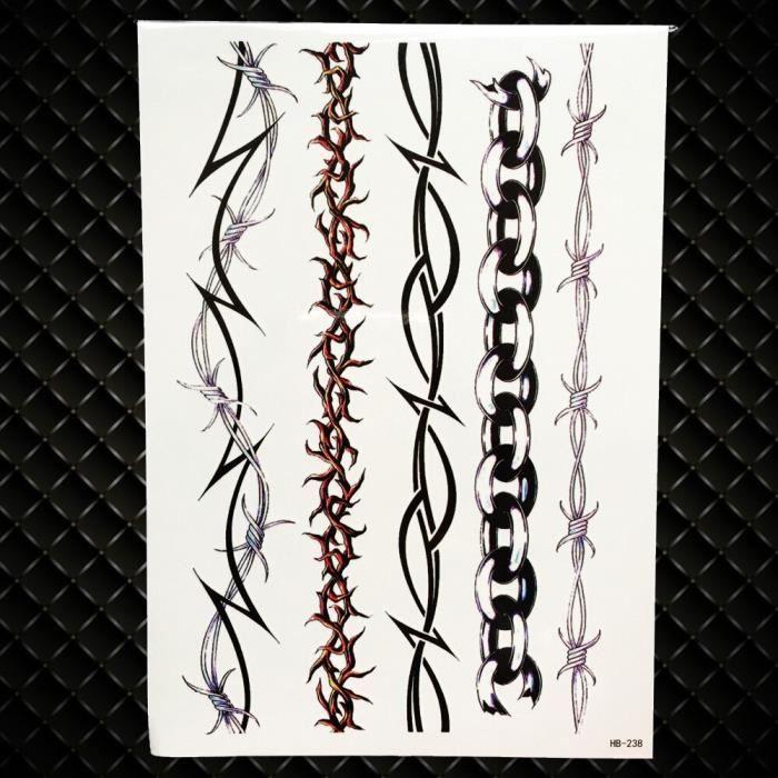 Tatouage Temporaire, GHB238,Lion roi guerrier hommes Robot bras faux étanche Maori corps Art noir Totem Tatoo papier