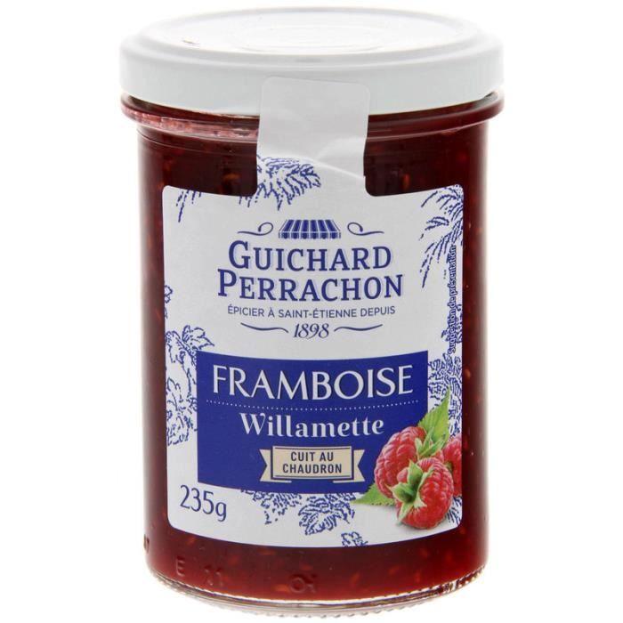 GUICHARD PERRACHON Confiture de Framboises Willamette Cuite au Chaudron - 245 g