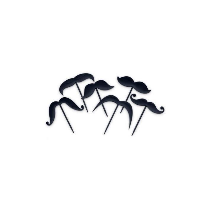 Pics en forme de moustache - Lot de 12 picks ap…