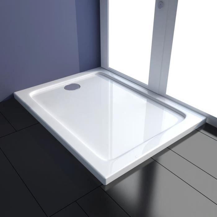 ����Haute qualité- Receveur de douche rectangulaire à poser moderne- Bac de douche salle de bains ABS 80 x 100 cm5852