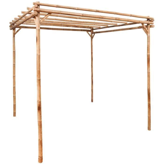 Luxueuse Magnifique Pergola de jardin - Jardinière Décor Arche à Rosiers - TONNELLE DE JARDIN Barnum pavillon Pergola Bambou ®PMXIVI