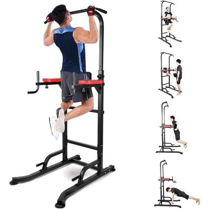 INTEY Chaise Romaine, Power Tower, Tour de Musculation Multifonctions, Entraîneur pour Abdominaux, Dos et Triceps, Stabilité, Pull-u