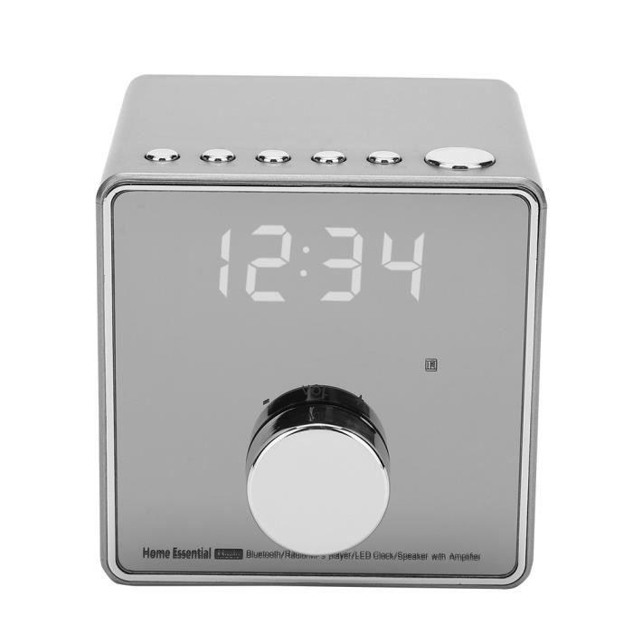 EBTOOLS radio-réveil Lecteur de musique Réveil Répétition Radio Support TF USB FM AUX Haut-parleur Bluetooth sans fil GunColor