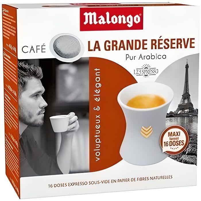 MALONGO Café dosette Espresso la Grande Réserve - 104 g