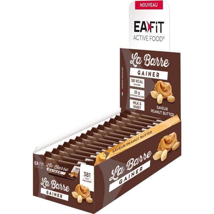 EAFIT La Barre Gainer Peanut Butter - Présentoir x16 barres 90 g