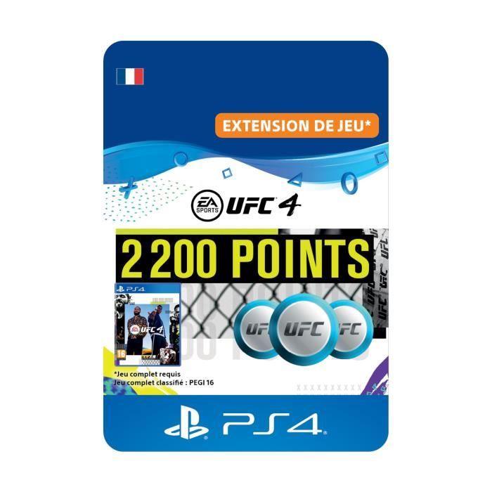 DLC 2200 Points UFC pour UFC®4 - Code de Téléchargement PS4