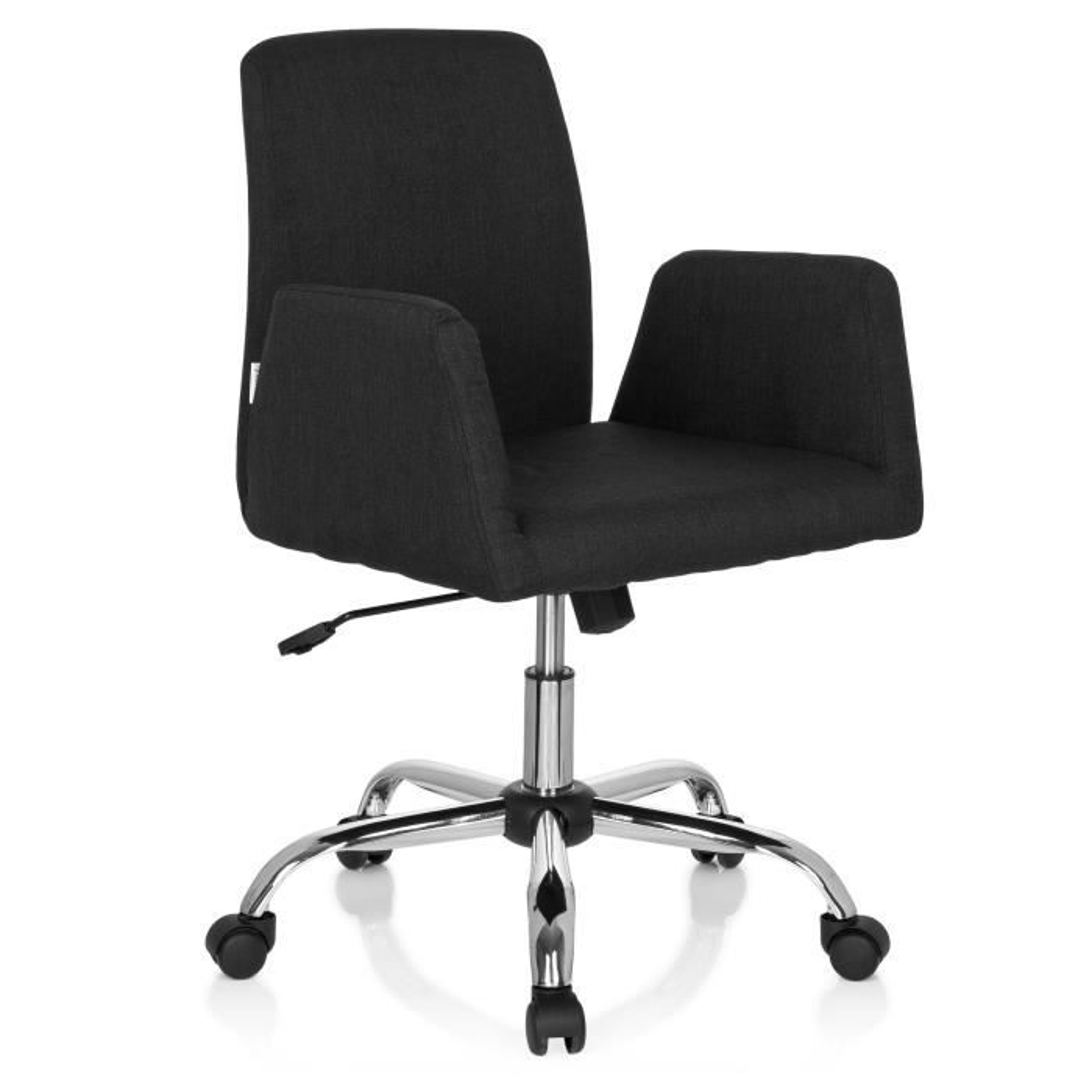 Chaise de bureau FLOW tissu noir hjh OFFICE