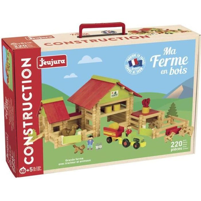 JEUJURA Grande ferme avec tracteur et animaux - 220 pièces
