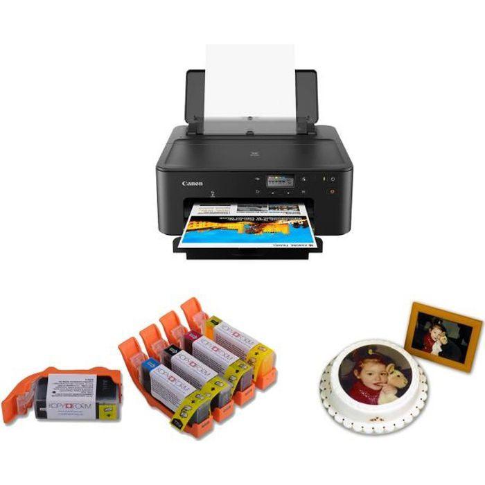 Alimentaire Imprimante A4 Kit complet avec 5 cartouches d'encre alimentaire et 25 feuilles papier comestible