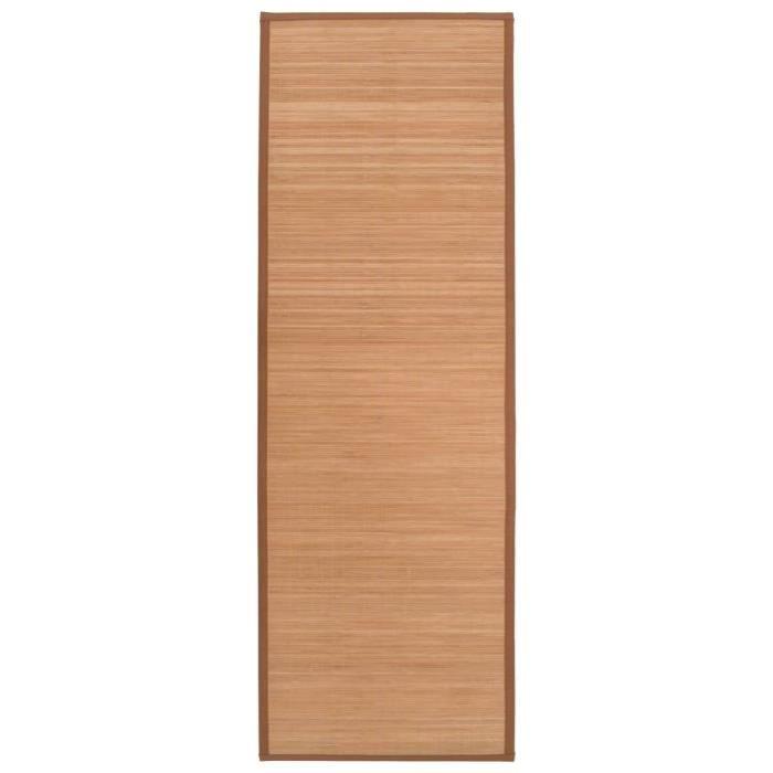 TAPIS DE SOL FITNESS Tapis de sport Tapis de gymnastique-Tapis de yoga Bambou 60 x 180 cm Marron