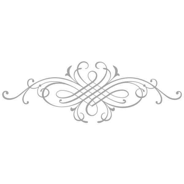 Sticker Décoration Ornement Design, Tête de Lit, Porte... (40x116 cm) GRIS ORN010