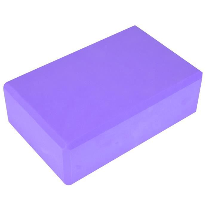 Yoga Block Foam Brick Exercice Fitness Tool Exercise Workout Stretching (Violet)