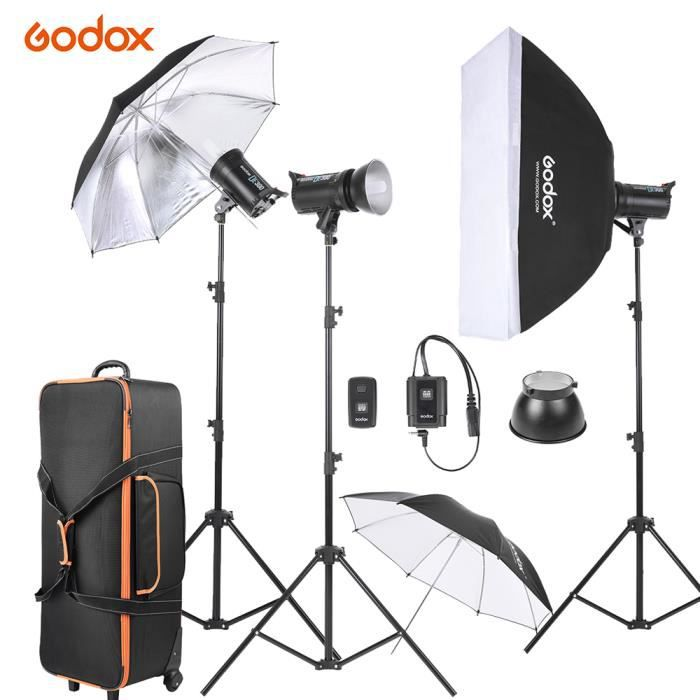 godox 300ws flash studio photo kit avec support lumi re. Black Bedroom Furniture Sets. Home Design Ideas