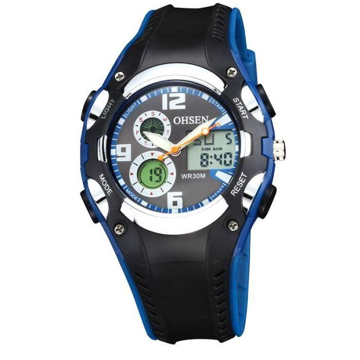 de en Digital montre garçons étanche populaire montre